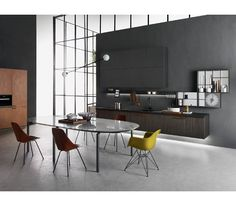 INDada by Molteni & C / Dada / Unifor Brands | A system of subtraction distinguishes clearly formal elements from functionally suitable components. #interiordesign #interiordesignmagazine #design #projects #kitchens