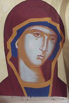 Σπουδή στον κόπο των μαθητών Face Lightening, Paint Icon, Russian Icons, Infancy, Orthodox Icons, Sacred Art, Religious Art, Virgin Mary, Three Dimensional