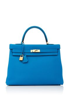 8e8d529573 HERITAGE AUCTIONS SPECIAL COLLECTIONS HERMÈS 35CM BLUE ZANZIBAR TOGO KELLY.  #heritageauctionsspecialcollections #bags #hand bags #