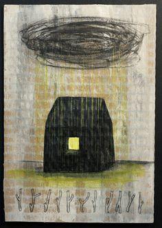 Art: peinture originale sur carton brut.