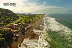 Flying over Playa Hermosa (jaco) during a Punto Surf Contest