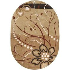 Artistic Weavers Florence Tan 8 ft. x 10 ft. Oval Area Rug-Florence-810OV at The Home Depot