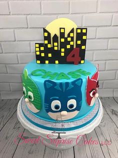 PJ Masks Cake Catboy, Owlette, Gecho  Sweet Suprise Cakes, LLC. | CAKE GALLERY