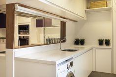 Divisória cozinha com vidro