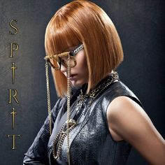 FW14 Spirit collection by gino hairandmore INSPIRATION: Medieval, Byzantine, Jeanne d'Arc hairstyles Orange red bob with heavy fringe