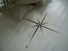Compass floor inlay