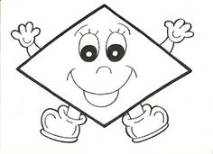 Formas geométricas divertidas e coloridas! - ESPAÇO EDUCAR Toddler Learning Activities, Preschool Activities, Teaching Kids, Shapes For Kids, Math For Kids, Hobbies And Crafts, Crafts For Kids, Sudoku, File Folder Activities