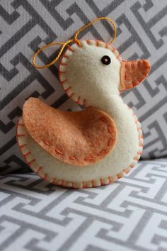 Felt Duck Ornament Rubber Duck Duck Ornament by TheOwlCoves