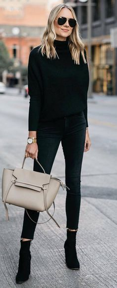 black on black + nude detail #omgoutfitideas #outfitinspiration #clothing
