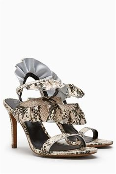 4bbba494b3e Buy Snake Effect Ruffle Sandals from the Next UK online shop