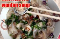 Wonton soup recipe from popular stall
