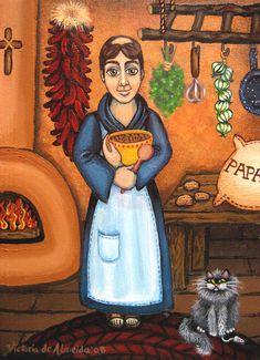San Pascual Painting by Native New Mexico Artist Victoria de Almeida  www.victoriadealmeida.com
