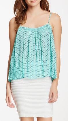 Pleated Printed Cami