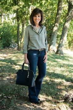 Friday Fashion: Casual Fashion For Women Over 40. would love to see these jeans in my next stitch fix.