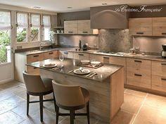 23 veces he visto estas serenas cocinas grandes modernas. Kitchen Interior, Kitchen Remodel, Kitchen Room Design, Kitchen Dining Room, Kitchen Dining, Kitchen Diner, Home Kitchens, Kitchen Dinning, Kitchen Design