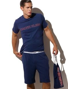 These are pretty cool Pijamas Calvin Klein, Mens Sleepwear, Knee Length Shorts, Calvin Klein Collection, Pyjamas, Pjs, Mens Essentials, Pajamas Women, Stylish Men