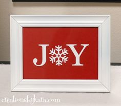 Using the word JOY in your Christmas Decor is a great way to keep the reason for the season in mind. Have fun spreading Christmas JOY all over the house.