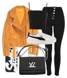 """Untitled #22752"" by florencia95 ❤ liked on Polyvore featuring STELLA McCARTNEY, Topshop, SKINN, Louis Vuitton and Puma"