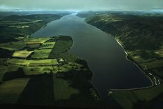 National Geographic: Aerial view of Loch Ness and surrounding farmland. by National Geographic on artflakes.com as poster or art print $16.63