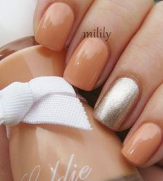 Peach and silver. So perfect for the spring.