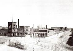 1875 Berlin - Borsigs Maschinenbauanstalt an der Chausseestraße beim Oranienburger Tor - (Foto: F. Albert Schwartz)