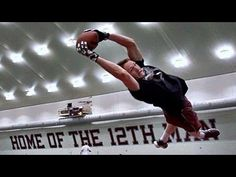 Dude Perfect Train With Texas A&M Wideout Travis Labhart - #Trickshots #NFL #training