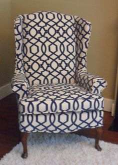 OMG! Look what I found, exact fabric done in the wingbacks you have!