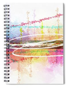 """This x spiral notebook features the artwork """"Spark of creation giving rise to life"""" by Daniel Ghioldi on the cover and includes 120 lined pages for your notes and greatest thoughts. Spiral Notebook Covers, Spiral Notebooks, Notebooks For Sale, Lined Page, Giving, Yellow, Blue, Birth, Creativity"""