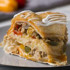 Chicken Fajita Party Ring Recipe by Tasty