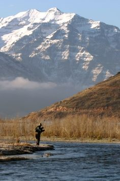 Fly fishing on the Provo River, Doesn't get much better than this!