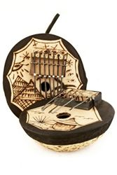 Calabash Gourd Kalimba (Thumb Piano) from Burkina Faso. Great gift idea for music lovers.  http://www.worldtravelart.com/Calabash_Gourd_Kalimba_Thumb_Piano_p/bk-09f.htm