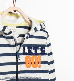 Image 3 of STRIPED HOODED JACKET from Zara