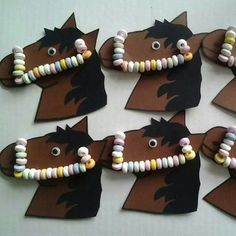 Great idea for our next children's birthday party! - DIY - Kindergeburtstag - Damen un Mann Schonheit Horse Birthday Parties, Kids Birthday Treats, Free Birthday, Classroom Treats, Horse Party, Maila, School Treats, Pony Party, Get The Party Started