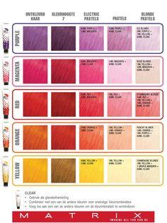 Matrix colorgraphics lacquer Kleurformules.