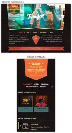 Responsive web design example: Formfett