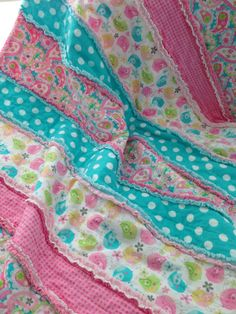 Patchwork Rag QuiltFlannel & Minky Rag by SweetBabyBurpies on Etsy