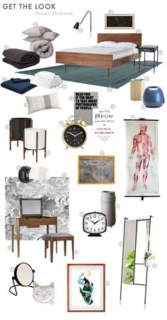 Sara's Bedroom Reveal (Emily Henderson) Interior Design Living Room, Living Room Decor, 1960s House, Interior Design Themes, Modern Style Homes, Modern Bedroom, Eclectic Bedrooms, Diy Décoration, Dream Rooms