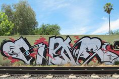 Rhyme – read more @ http://www.juxtapoz.com/Graffiti/rhyme-4141 – #graffiti #rhyme #traintracks