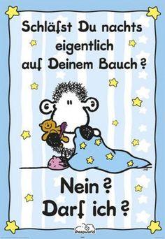 Sheepworld - Auf Deinem Bauch Schaf-Poster Liebe (91x61cm) #39174