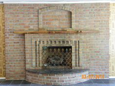 Fireplace in Village Craft Iron & Stone, Inc. Showroom. Julian, PA
