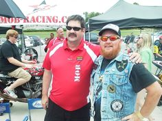 Two vets reunited during the AMA Pro Road Racing fan walk at Barber Motorsports Park that haven't seen each other since A.I.T.