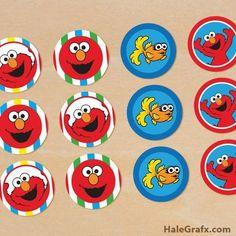 FREE Sesame Street Cupcake Topper printables