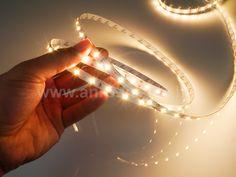 Ez a nagy fényerejű, 2835 LED chipes szalag kiválóan alkalmas a konyhai pultvilágításokhoz, munkafények készítéséhez.   Megrendelhető az ANRO Épületdíszítés kft-nél hidegfehér, melegfehér (a képen ez van), természetes fehér fényszínnel, kültéri bevonatos, vagy beltéri változatban. Led