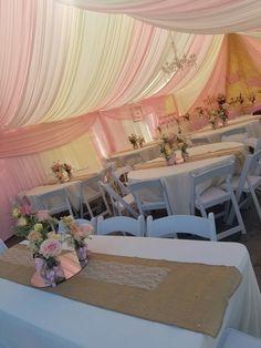 Mason jars y flor natural draping pink /beige