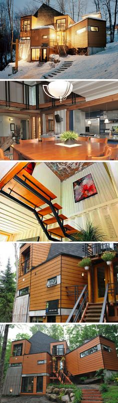 MONTREAL SHIPPING CONTAINER MANSION #containerhomes