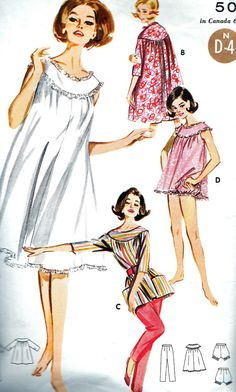 Vintage Sewing Pattern 1960s Plus Size Baby Doll by paneenjerez, $9.00