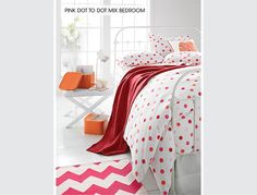 Pink Dot to Dot Mix Bedroom