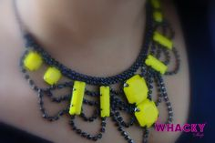 Midnight Beauty (Neon yellow and black) ;  Price : Rs 1100 (The Whacky Shop)
