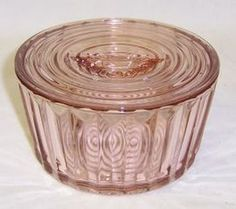 Jeannette Pink Depression Glass JENNYWARE 4 Inch Round REFRIGERATOR Dish w/Lid