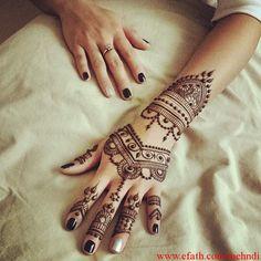 Indian Simple mehndi design 2015